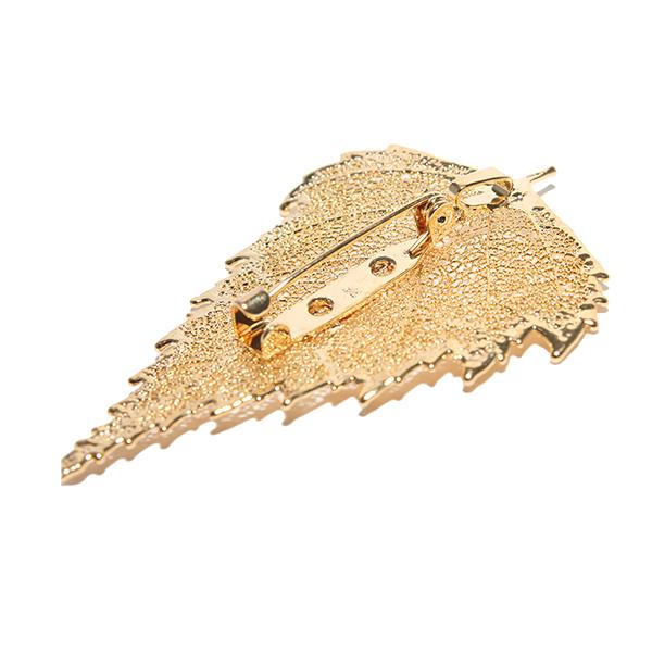 Birke Gold Brosche