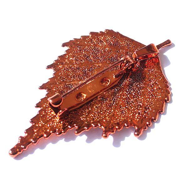 Birch Copper Brooch Back