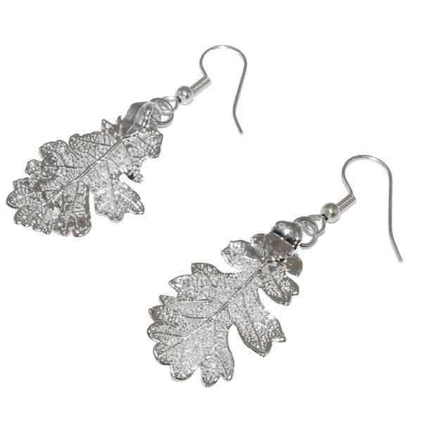 Oak Silver Earrings