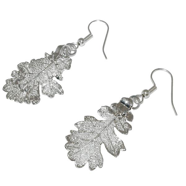 Eiche Silber Ohrringe