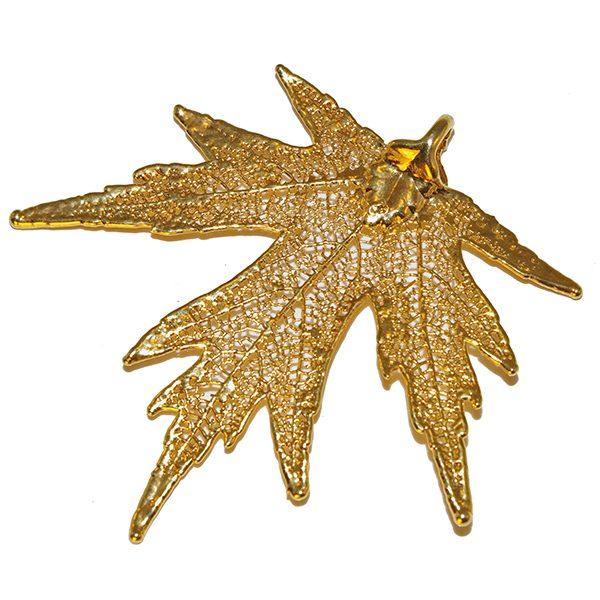 Gold Silver-Maple Pendant