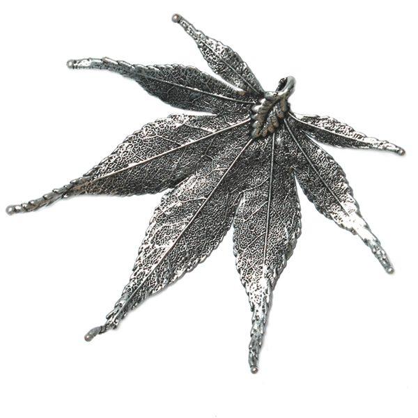 Japanischer Ahorn Antik Silber Ahänger