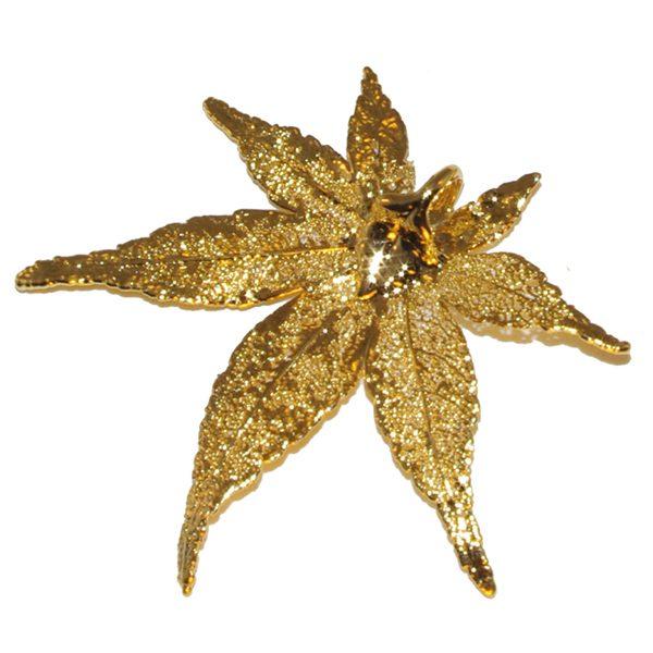 Japanese Maple Gold Pendant