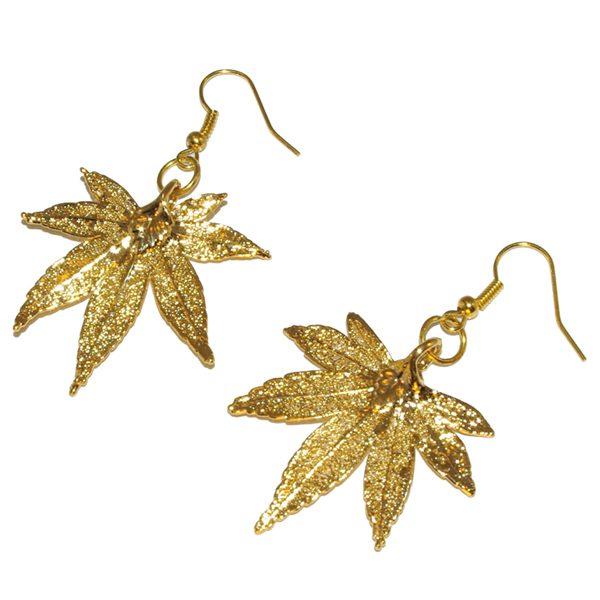 Japanese Maple Gold Earrings