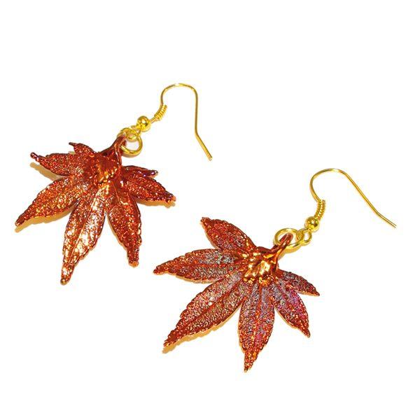 Japanese Maple Earrings Copper