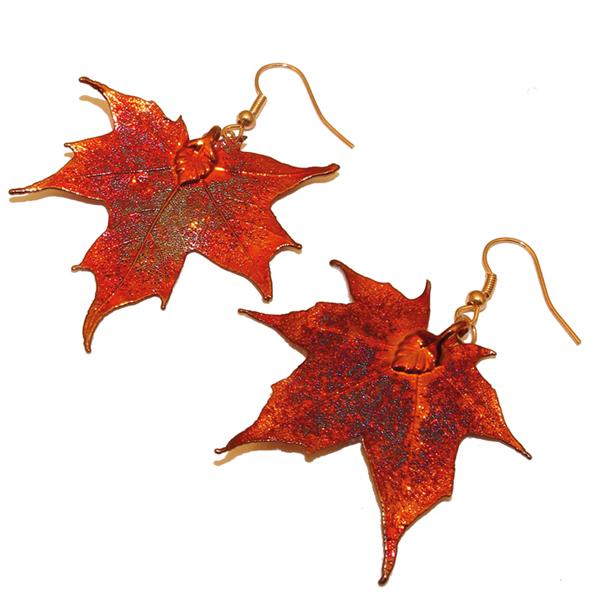 Kanadischer Ahorn Kupfer Ohrringe