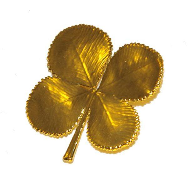 Kleeblatt Gold Anhänger