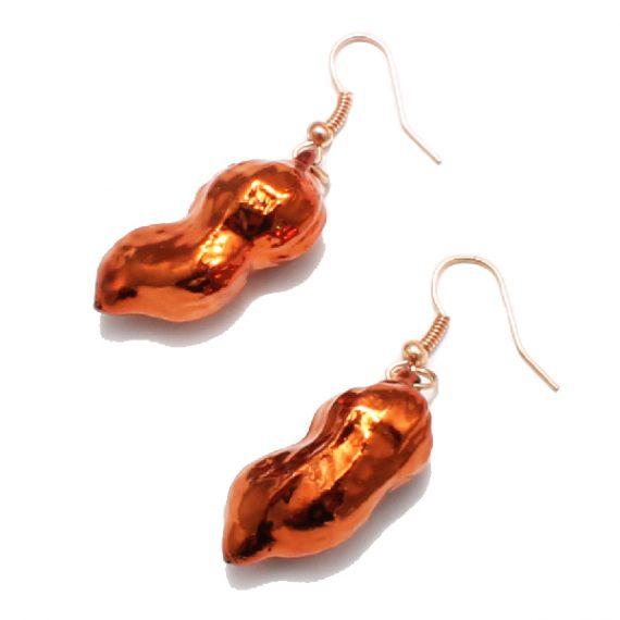 Erdnuss Kupfer Ohrringe