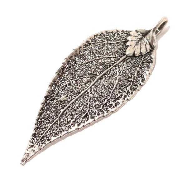 Immergrün Antik Silber Anhänger